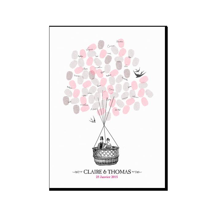 Vintage Romance Guest Book Poster Custom And Unique