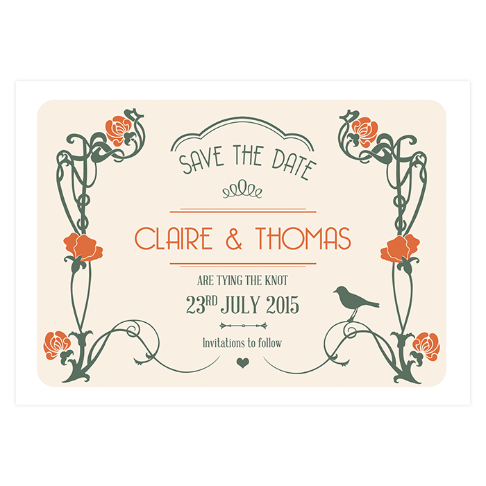 Art Deco Save The Date Custom And Unique Wedding Invitations And