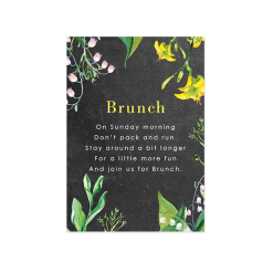Brunch invite with Botanical design for rustic wedding.