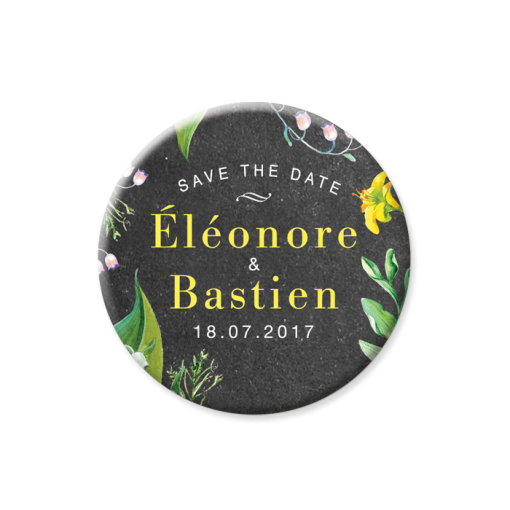 invitation-mariage-personnalise-chanmpetre-jaune-muguet-fleurs-save-the-date-magnet