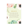 Custom wedding invitation for brunch. Watercolor flowers in Pink and mint.