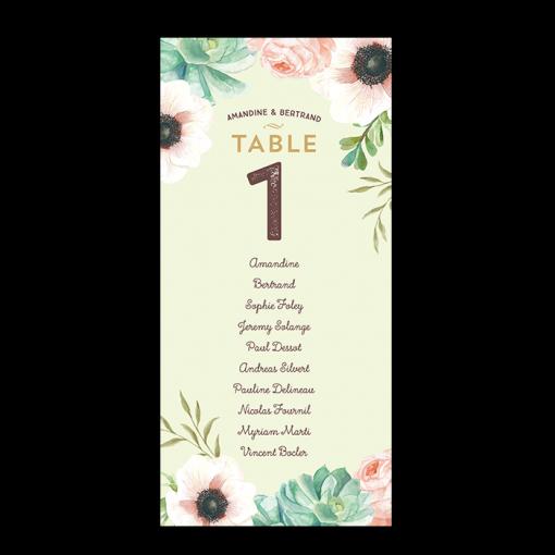 invitation-mariage-personnalise-fleurs-pink-mint-bouquet-plan-table-carte