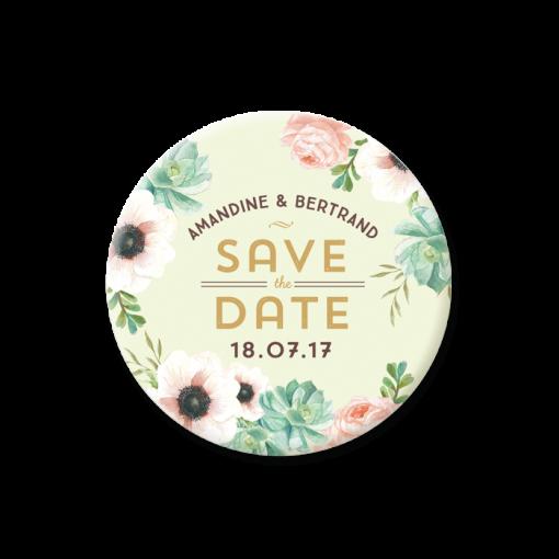 invitation-mariage-personnalise-fleurs-pink-mint-bouquet-save-the-date-magnet