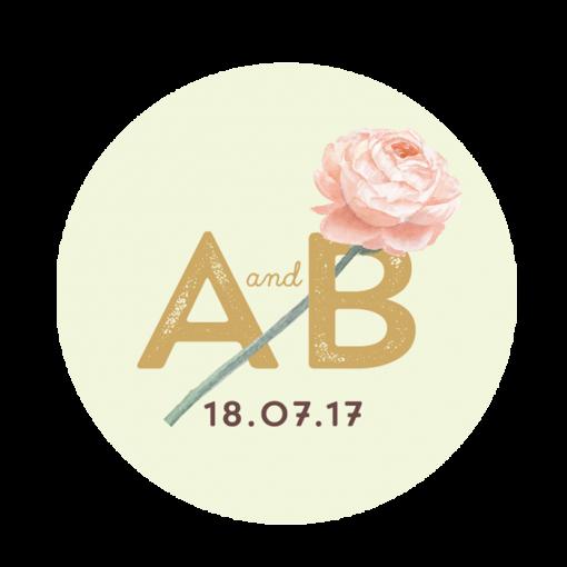 invitation-mariage-personnalise-fleurs-pink-mint-bouquet-sticker-flatUK