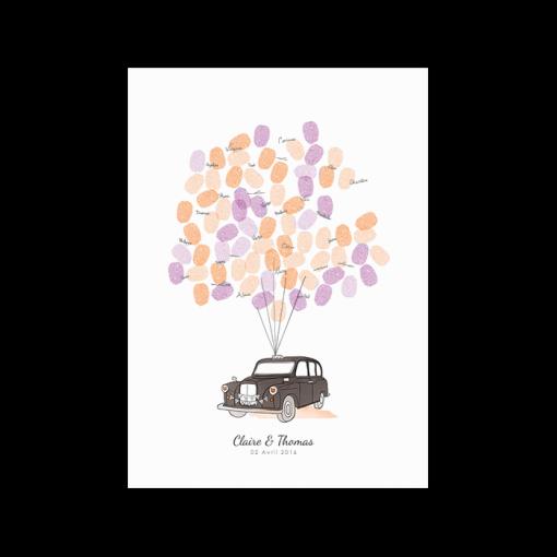 livre-d-or-mariage-personnalise-poster-arbre-empreintes-taxi-anglais