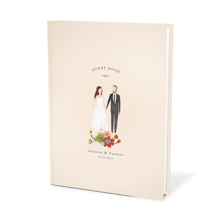 Personalized Wedding Guest Book.Bespoke Guest Book Bride And Groom
