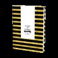 Wedding guest book albul, balck and gold stripes