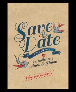 Save the date mariage kraft tatoo