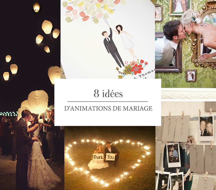 Top 8 idées d'animations de mariage - Pepper & Joy QS05