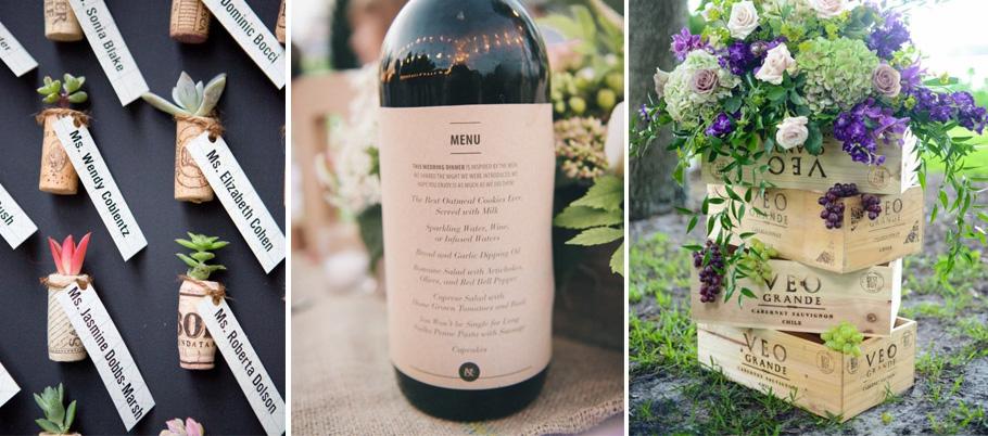 Fabuleux Mariage autour du vin, faire-part viticole TJ08