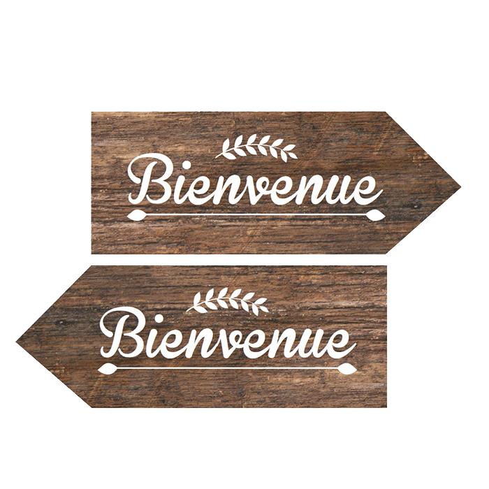 Kit DIY panneau mariage, fond bois Rustic chicà Imprimer # Panneau Directionnel Bois