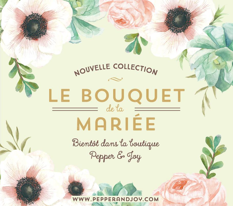 invitation de mariage avec fleurs pink et mint.