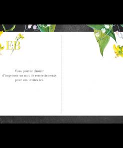 Carte postale de remerciements de mariage avc votre photo personnalisée