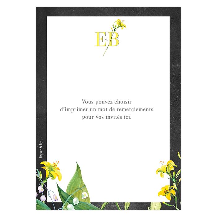 cartes de remerciements de mariage avec photo et fleurs l 39 aquarelle. Black Bedroom Furniture Sets. Home Design Ideas