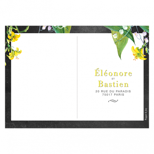 Carton réponse de mariage floral