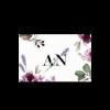 Marque place de mariage à fleurs : lavande et rose