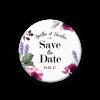 Save the date magnet à fleurs, lavande et roses