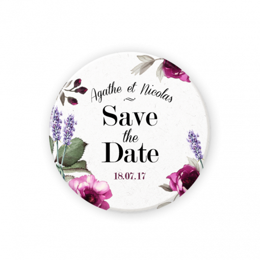 save the date magnet mariage en provence le bouquet de la mari e. Black Bedroom Furniture Sets. Home Design Ideas