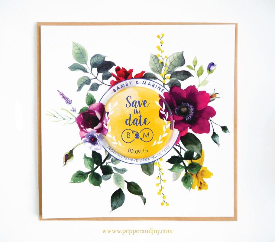 Save the date de mariage sur mesure