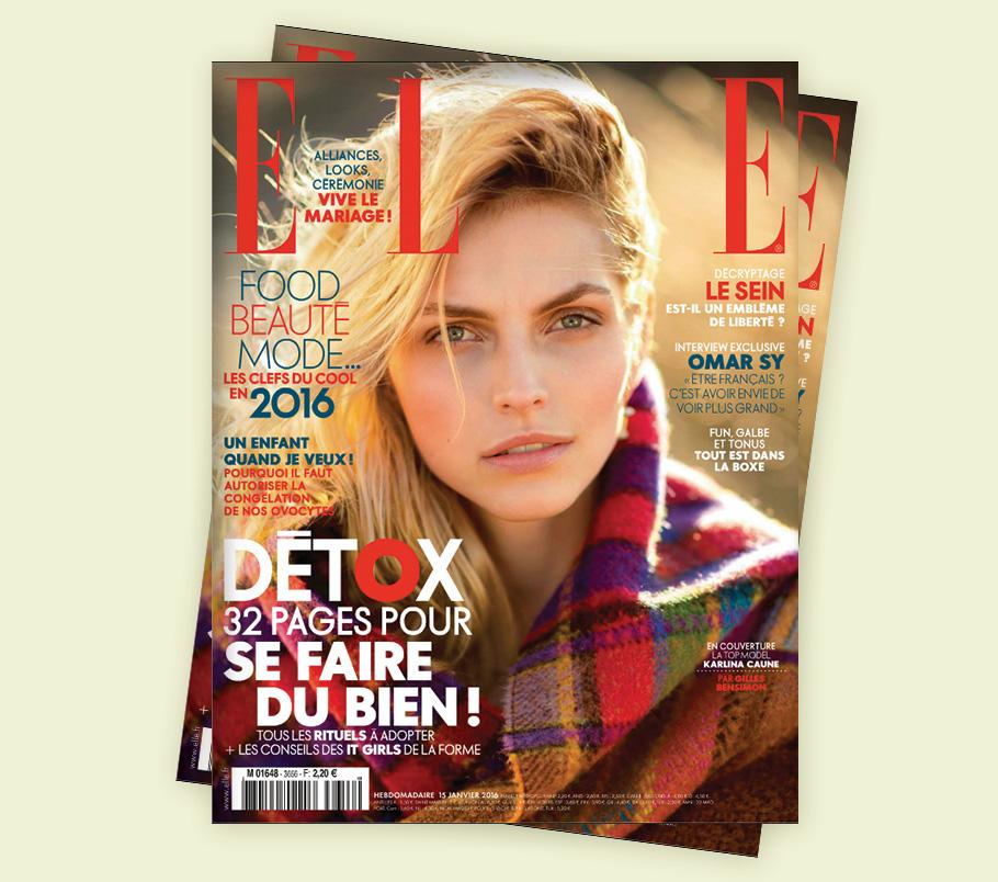 Livres d'or de mariage personnalisés Pepper & Joy dans Elle magazine
