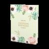 Livre d'or de mariage avec fleurs à l'aquarelle Pink Mint