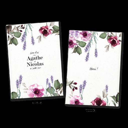 Livre d'or de mariage à fleurs de Provence