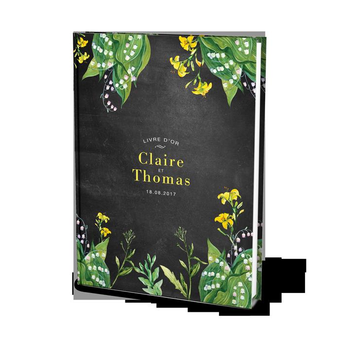 Livre d'or de mariage champêtre personnalisé