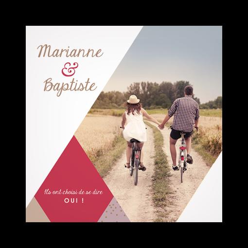 save the date photo, mariage moderne et personnalisé