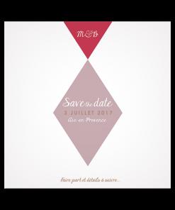 Save the date photo, carte carrée pour mariage moderne et élégant