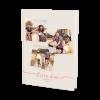 Livre d'or de mariage photo façon polaroids. Un livre d'or de mariage unique personnalisé avec des photos des mariés. Choisissez la couleur des textes et du fond pour les assortir à la palette de couleurs de votre mariage