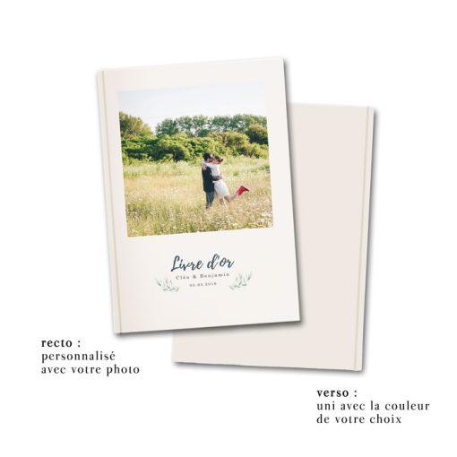 Livre d'or de mariage photo des mariés, personnalisé avec votre meilleure photo, cahier A4