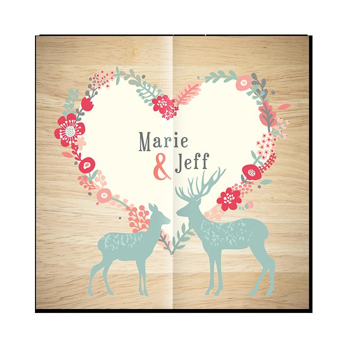 Faire-par de mariage Montagne, invitation personnalisée.