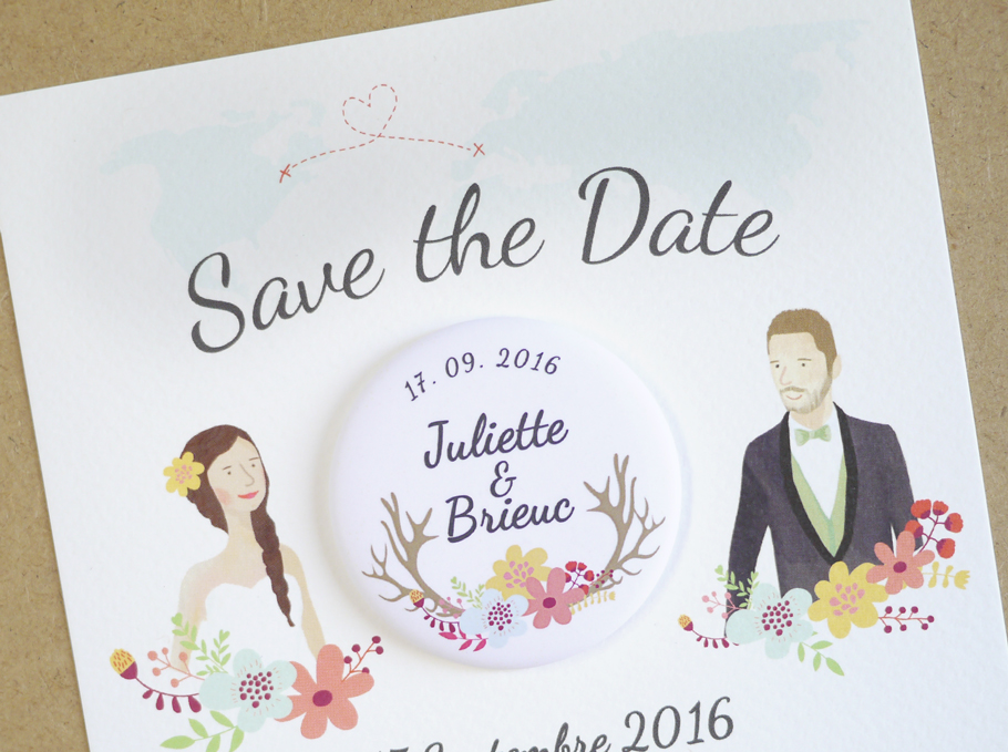 save the date mariage créatif