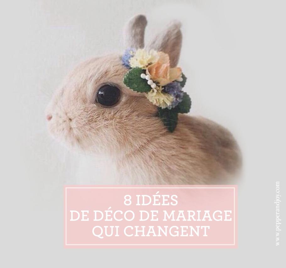 8 id es de d coration de mariage faciles originales - Idees mariages originales ...