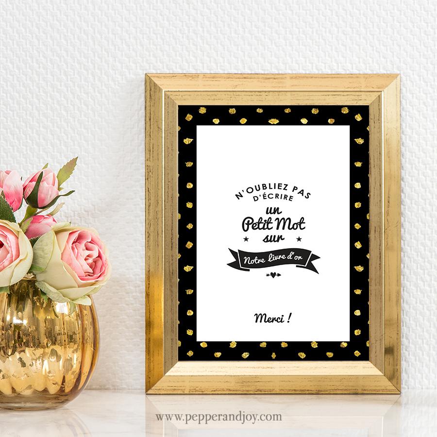 Panneau de mariage pour livre d'or