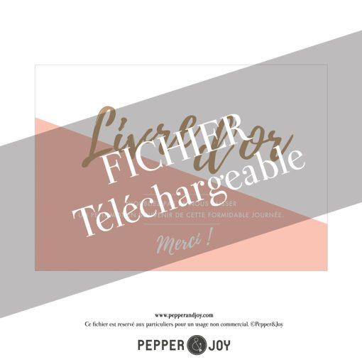 Pancarte de mariage Livre d'or à telecharger