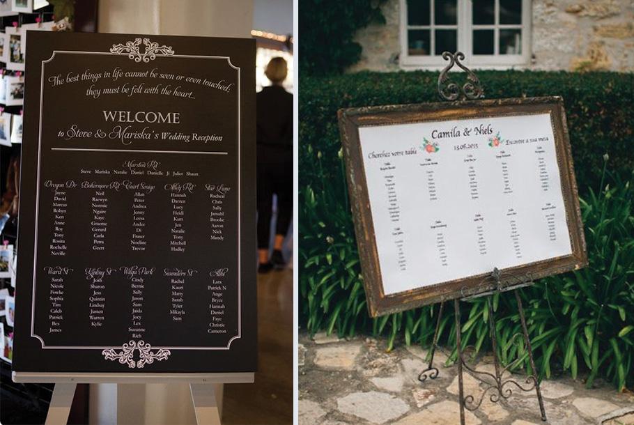 Plan de table de mariage imprimé grand poster personnalisé