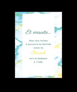 Invitation de mariage Marbre, carton supplémentaire