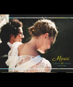 Remerciements photo de mariage personnalisés Marbre
