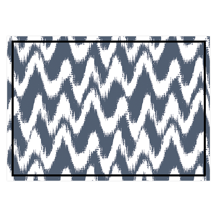 Save the date de mariage moderne, motif gypset bleu et blanc