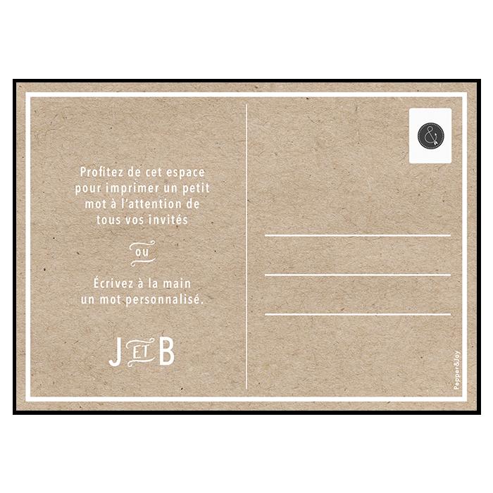 Save the date de mariage moderne, carte postale