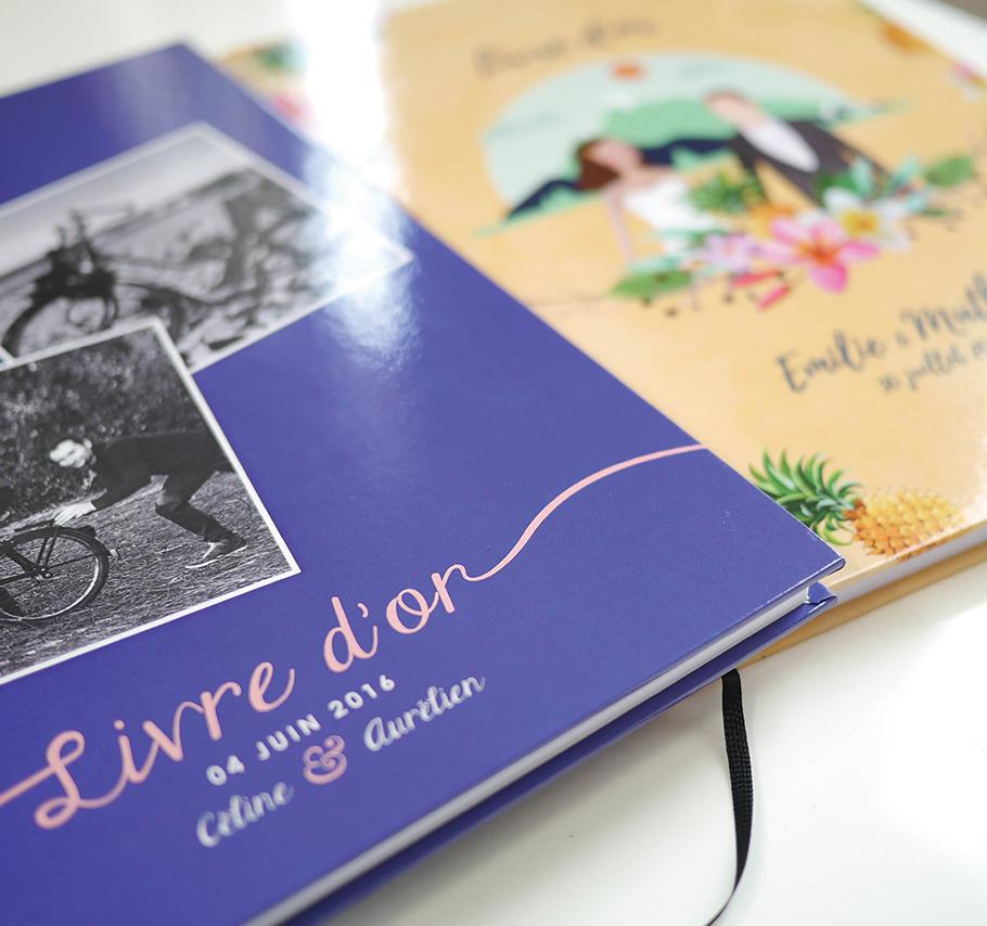 livre d'or de mariage personnalisé, album A4