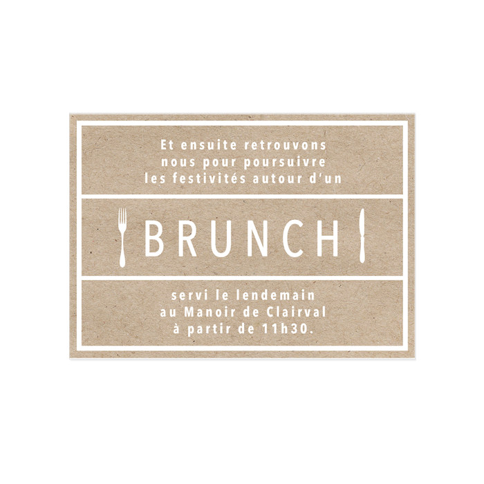 Invitation au brunch du lendemain de mariage, minimale et moderne