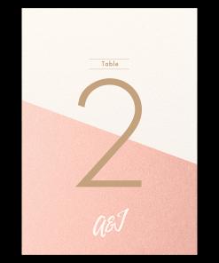 Numéro de table de mariage Nude