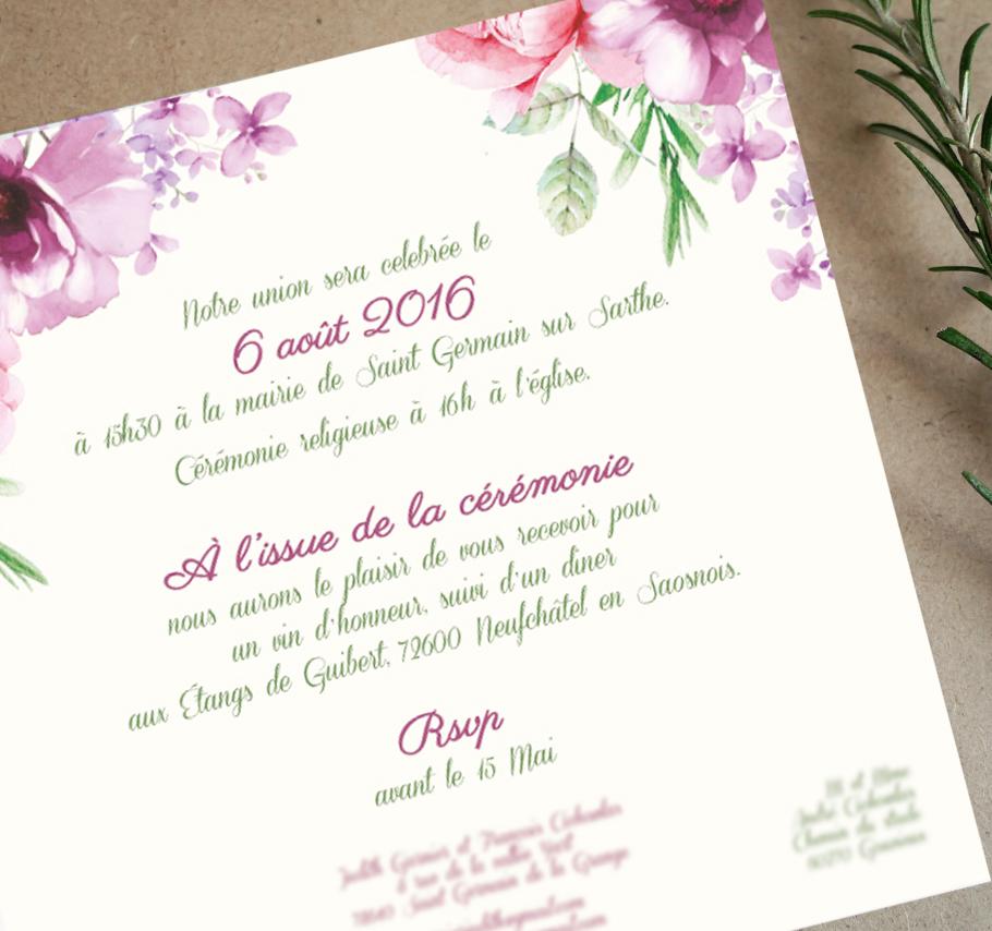 faire-part-mariage-fleur-creatif-rose-et-violet