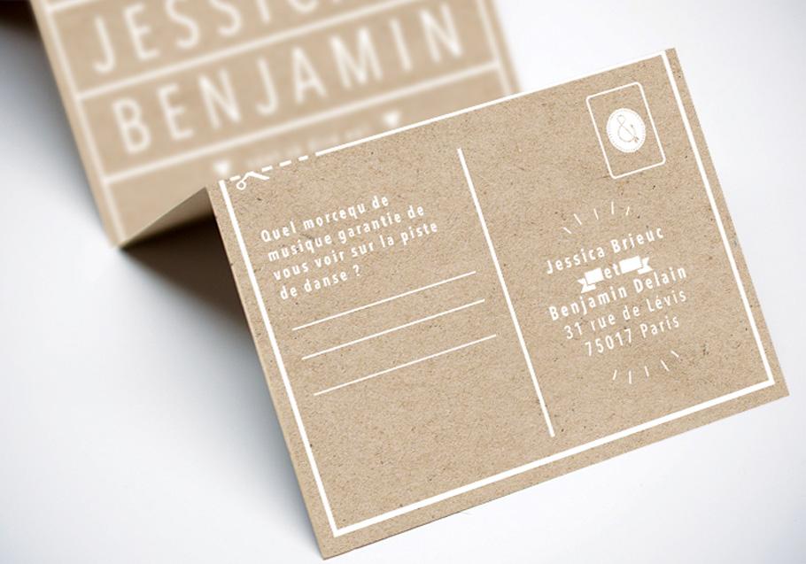 texte faire-part mariage, le coupon réponse à découper sur l'invitation de mariage.