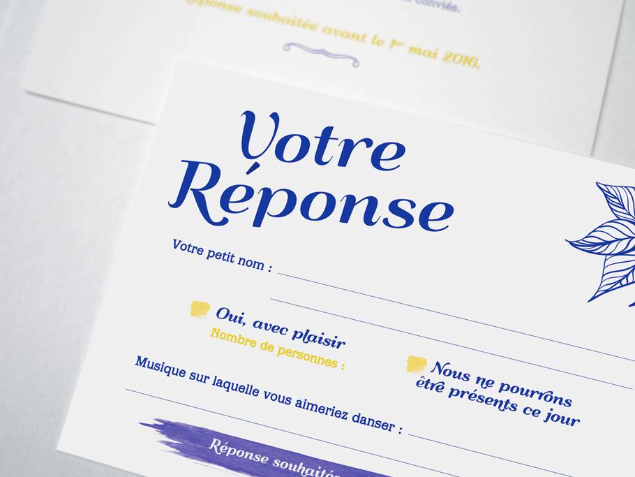 texte faire-part mariage, carton réponse d'invitation de mariage
