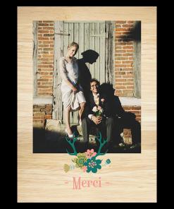 Carte remerciements mariage à la Montagne