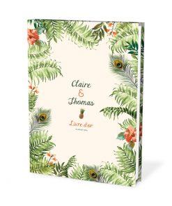 Livre d'or mariage jungle tropicale, mariage exotique