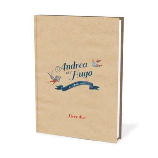 Livre d'or mariage tatoo, thème tatouage vintage